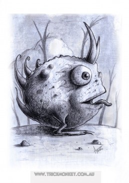 Roundus Cornu Toad Sketch