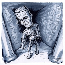 Halloween Beastie - The Mummy - by Trick Monkey / Andy Monks
