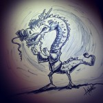 Mo Kung Fu Dragon by Trick Monkey / Andy Monks