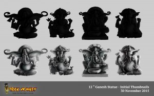 Ganesha Sculpture Thumbnails - Trick Monkey