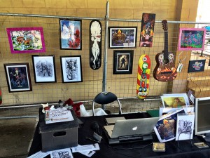 Rods and Rockabilly Miami Show Art Trick Monkey Stand 1